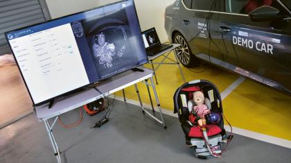 Škoda Auto DigiLab Israel se společností Guardian vyvíjejí senzory založené na mikrovlnné technologii, jež připevněné pod střechou vozidla zachycují i nejjemnější vibrace a pohyby vozu. Díky zpracovávání dat v reálném čase systém například zjistí, že dětská sedačka nebyla připevněna správně, nebo že cestující sedí nevhodně a je vystaven vyššímu riziku zranění při uvolnění airbagu