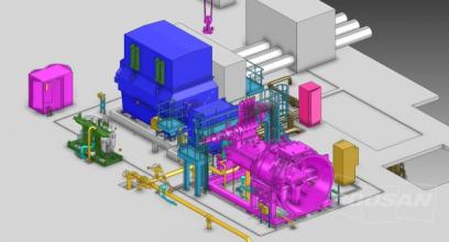3D model turbosoustrojí Palu 3 v Indonésii
