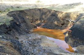 Zdroj kontaminované vody v Hájku