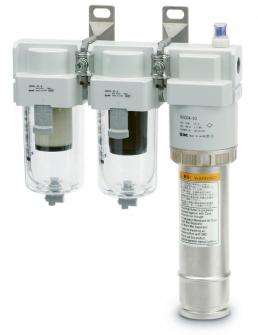 Sestava filtrů a molekulárního vysoušeče stlačeného vzduchu rady IDG