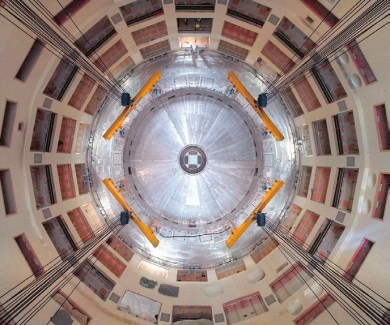 "Pohled shora do ""jámy"" pro tokamak ITER /Foto: ITER/"