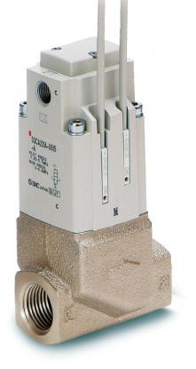 Elektromagnetický nepřímo ovládaný 2/2 ventil řady SGC pro chladicí kapaliny