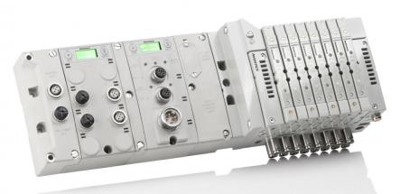 Ventilový ostrov AVENTICS s elektronikou Série G3 má integrovaný grafický displej, který zobrazuje snadno čitelné diagnostické informace