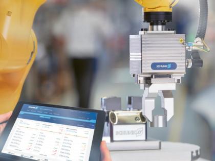 Se systémem Smart Gripping dokážou chytrá chapadla Schunk měřit, identifikovat a monitorovat uchopené díly stejně jako probíhající výrobní proces /Foto: Schunk/