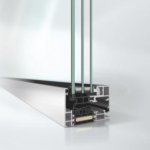 Panoramatické tepelněizolační hliníkové okno Schüco AWS 75 PD.SI (základní stavební hloubka 75 mm, Panorama Design, Super Insulated) /Zdroj foto: Schüco CZ/