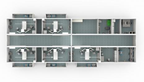 Adaptibilní modulární řešení pokryje krátkodobé potřeby nemocnic např. v době epidemie nebo v případě probíhajících stavebních prací