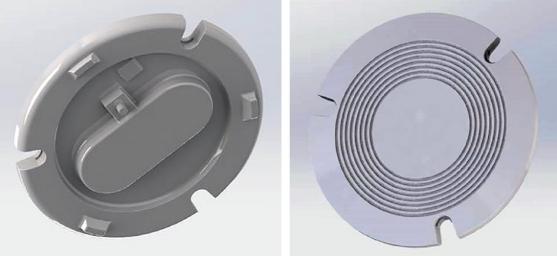 Drink timer z tekutého silikonového kaučuku – spodní část a tácek
