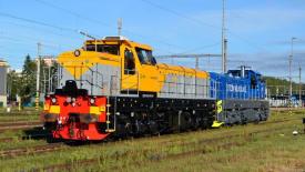 EffiShuntery 1600 během přepravy do ukrajinských železáren ArcelorMittal Krivoj Rog a k finskému dopravci Fenniarail