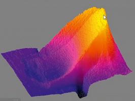 Obr. 4: 3D termogram pohled z vrchu