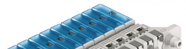 Obr. 3: Miniaturní ventily VOVK mohou být instalovány samostatně, lze je také snadno poskládat do baterie
