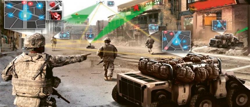 Skupina vojáků se stala terčem ostřelování z nedaleké budovy. I když je nablízku průzkumný dron, trvá přece jen poměrně dlouhou dobu, než zašle obrazy ze svého průzkumu, než jsou vyhodnoceny a než se dostanou k postupujícím vojákům. Pomoc slibuje umělá inteligence
