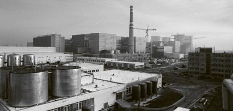 Dostavba Dukovan v 80. letech minulého století