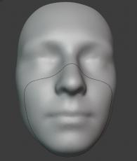 CIIRC TRIX: Křivka dotyku těsnění s průměrným obličejem