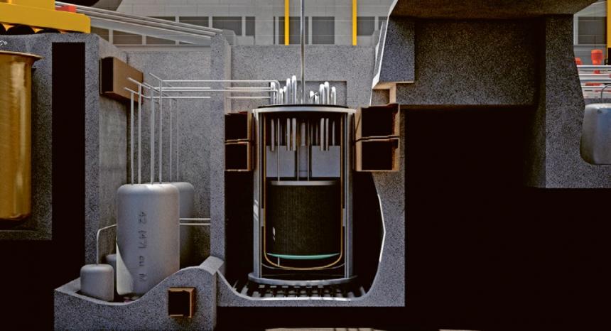 Řez reaktorovou jednotkou společnosti Terrestrial Energy