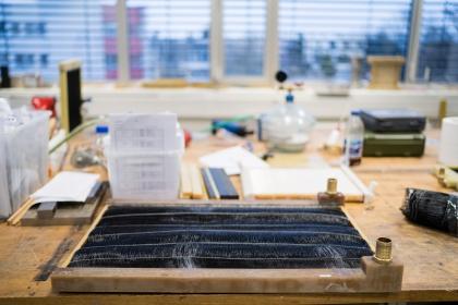 Nový typ chladiče z polymerních vláken /Foto: Jan Prokopius/