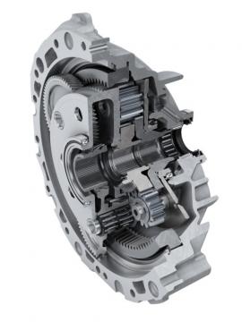 Príklad použitia ihličkových ložísk v oblasti Automotive: Pohon e-osi od spoločnosti Schaeffler vyrábaný pre Audi e-tron od roku 2018.