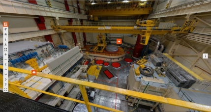 On-line prohlídka jaderné elektrárny Dukovany - reaktorový sál