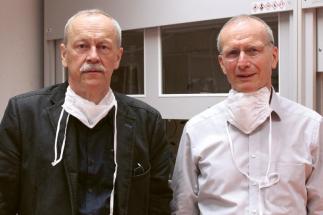 Profesoři Jaroslav Beran (vlevo) a David Lukáš