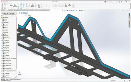 Návrh flexibilních soucástí, SolidWorks