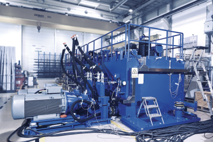 Fáze příprav na virtuální přejímku hydraulického agregátu ve výrobní hale Bosch Rexroth Brno