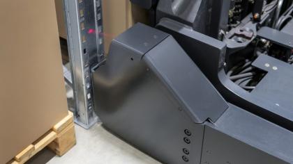 Detailní pohled na senzor ochrany Rack Protection Sensor
