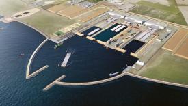 V technickém přístavu Arbejdshavn bude továrna na výrobu tunelových segmentů