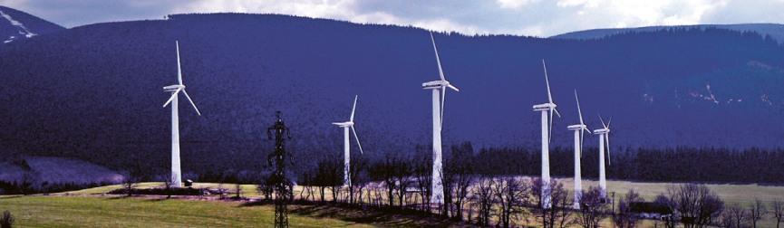 Větrné elektrárny u Ostružné