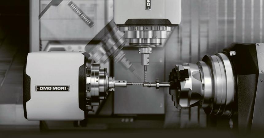 Obr. 4: Soustružnicko-frézovací jednotka centra CLX 450 TC