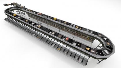 Nový propadový třídič Split Tray Sorter zajišťuje velmi dlouhou životnost a rychlou návratnost systémů pro automatické třídění přepravovaného zboží o hmotnosti až 12 kilogramů.