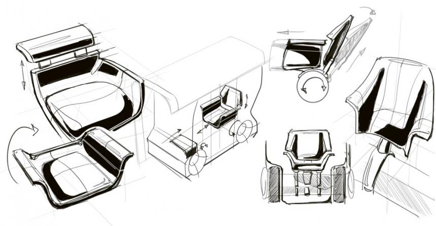 """Takto Marian Lochner představil nová designérská řešení interiérů """"polidštěných"""" městských vozidel včetně ochrany před koronavirem"""
