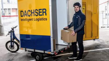 DACHSER v Praze zaváží elektrokoly i paletové zásilky /Zdroj: DACHSER/