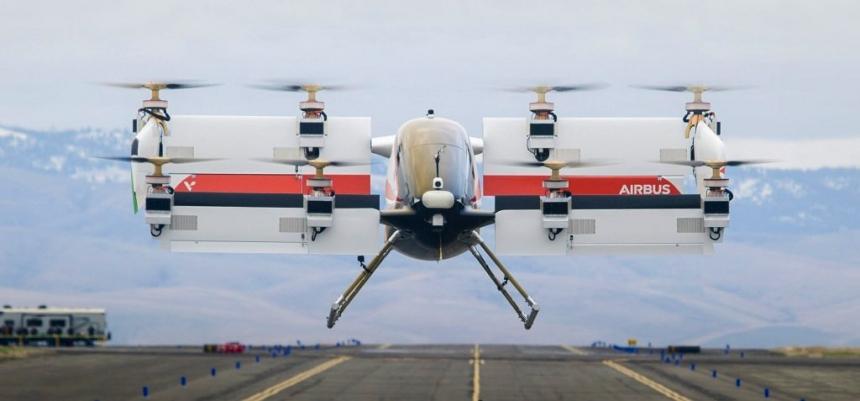 Vahana je celoelektrický, jednomístný, sklopný křídlový demonstrátor vozidel, který se zaměřuje na postupující samohybný elektrický vertikální vzlet a přistání (eVTOL)