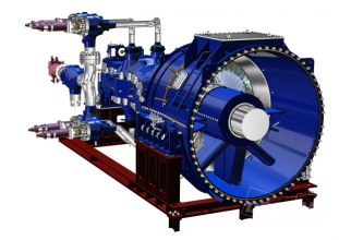 3D model turbogenerátoru pro britskou spalovnu Newhurst
