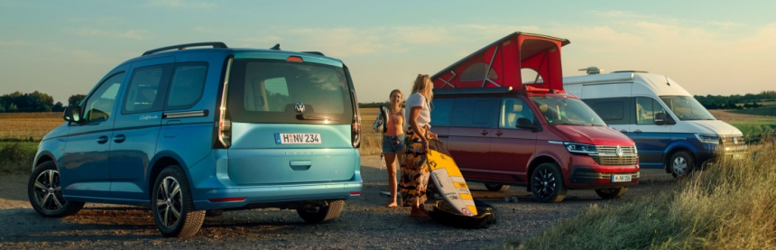 V segmentu kempovacích vozů, došlo k úspěšnému rozšíření nabídky o nový model Caddy California.