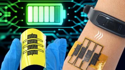 Roztažitelné mikrosuperkapacitory mohou pohánět nositelná zařízení