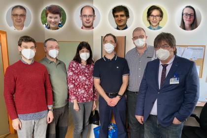 Tým lékařů FNKV a pracovníků ČVUT, který se na vývoji VENT-CONNECT podílel. Foto: archiv Lenky Vysloužilové, CIIRC ČVUT