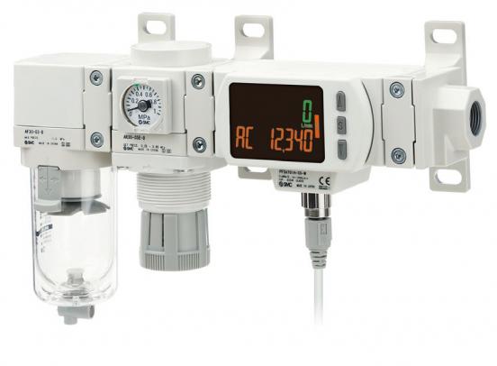 Nové jednotky úpravy stlačeného vzduchu AC -D včetně digitálního snímače průtoku PF3A s IO-Link protokolem