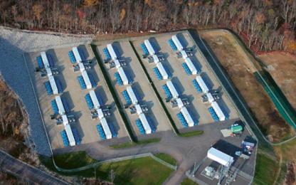 Letecký pohled na provoz společnosti Beacon Power ve státě New York /Foto: Beacon Power/