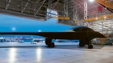 Americké letectvo a společnost Northrop Grumman zveřejnily první nový umělecký snímek bombardéru B-21 Raider Foto: Northrop Grumman Concept