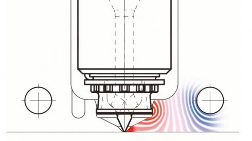Obr. 2: Přestup tepla z trysky do formy