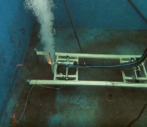 Při testech řezání laserem pod vodou se šlo až do tloušťky plechu 15 mm
