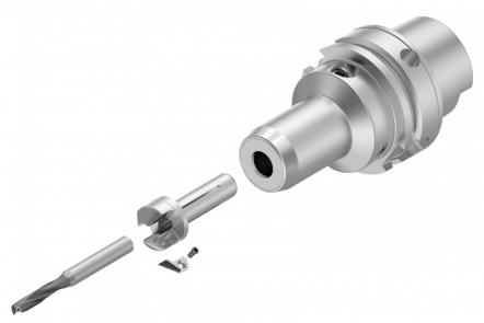 HiPACS od Kennametalu je cenově dostupný systém umožňující snadnou montáž, který se skládá ze tří dílů: redukčního pouzdra, zahlubovací destičky a celokarbidového vrtáku. Systém lze použít ve spojení s jakýmkoliv standardním hydraulickým upínačem.