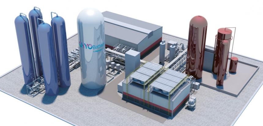 Takto by měl vypadat provoz schopný uskladnit 250 MWh energie ve zkapalněném vzduchu /Foto: Highview Power/