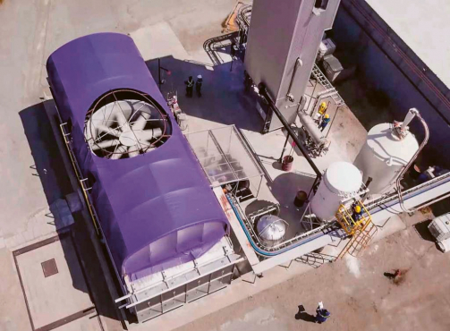 Experimentální jednotka společnosti Carbon Engineering /Foto: Carbon Engineering/