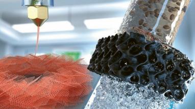 3D tištěné aerogely z grafenu úspěšně čistí vodu