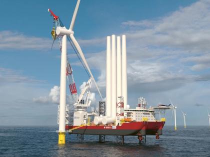 Projekt instalační lodě Charybdis pro společnost Dominion Energy, výrobce elektřiny z Richmondu ve Virginii