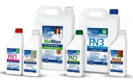 Fotokatalytické nátěry FN Nano pro čištění vzduchu a likvidaci bakterií a virů na fasády, stropní panely, kámen, přírodní povrchy a dřevo
