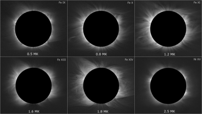 Záření různých iontů železa a niklu ve sluneční koróně