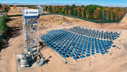 Zrcadla solární termální elektrárny společnosti Heliogen /Foto: Heliogen/