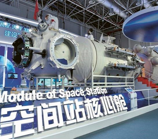Základní modul čínské orbitální stanice Tchien-che ne nepodobný ruskému MIRu Foto: CNSA